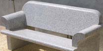 Grey Granite Bench